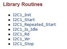 I2C program library