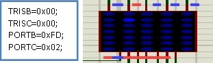 led-matrix-interfacing-2nd-row-and-thrid-coulomn