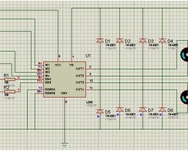 Circuit diagram of L298N motor driver