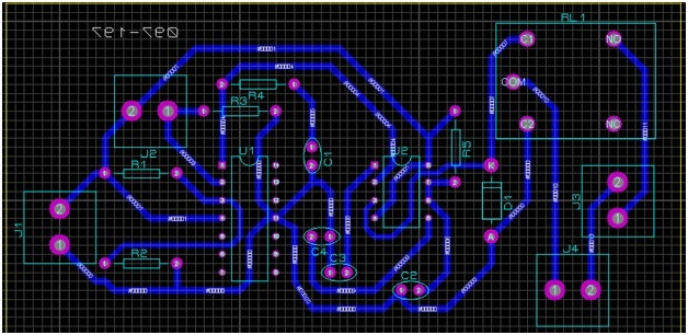 PCB design of automatic plant watering system
