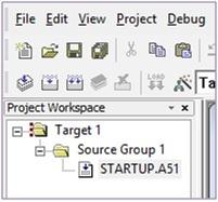 Keil project workspace
