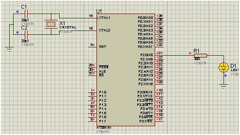 LED blinking in keil with 8051 microcontroller