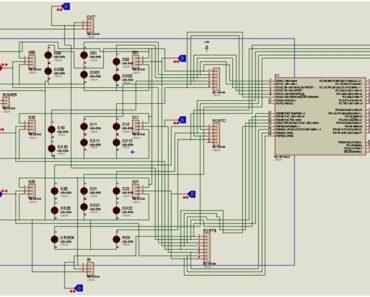 Parking Management System circuit diagram
