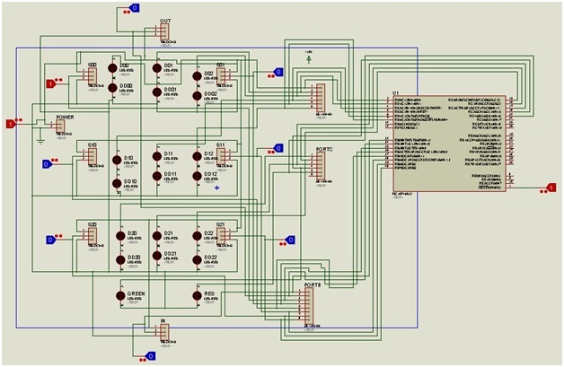 Parking Management System circuit diagram