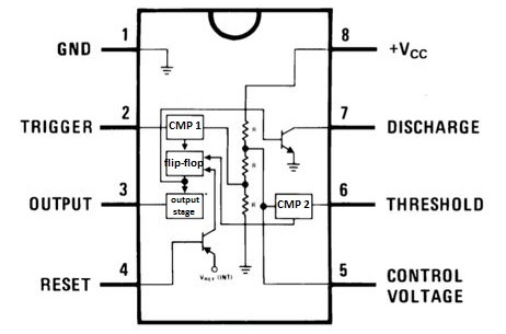 555 Timer Circuit Diagrams Different Modes Of Rh Microcontrollerslab Com Schematic Diagram