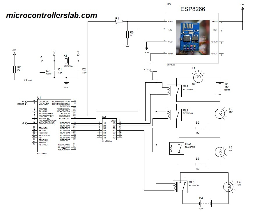 esp8266 based home automation using wifi