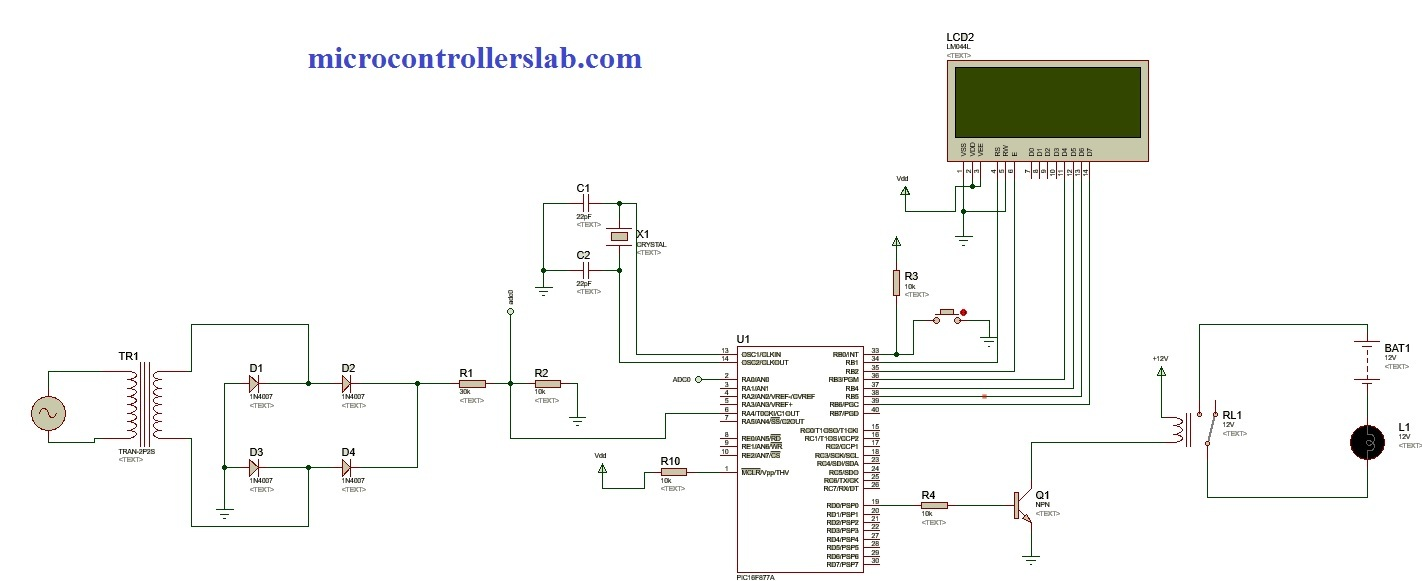 Detecting Power Grid Synchronization Failure System on Sensing Frequency or Voltage Beyond the Acceptable Range using pic microcontroller
