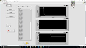 data on labview
