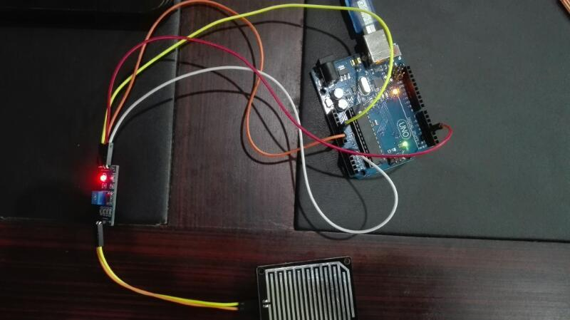 RainDrop Sensor interfacing with arduino