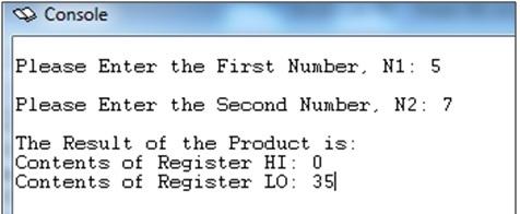 multiplication of numbers in MIPS