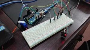 web controlled serrvo motor using Arduio