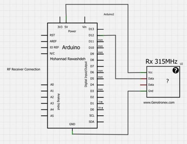 Схема приемника 433 ардуино