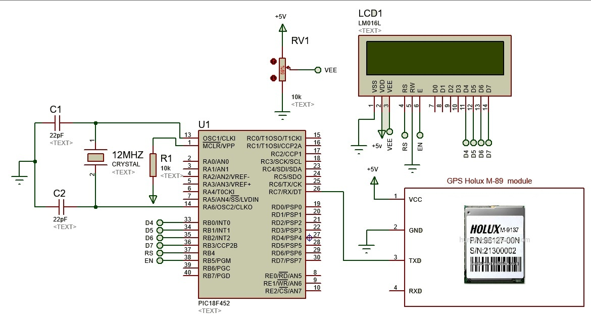 GPS based clock using pic microcontroller - Universal clock on gps circuit component, gps active antenna schematic, rs232 to usb adapter schematic, gps circuit boards, gps jammer schematic, gps circuit design,