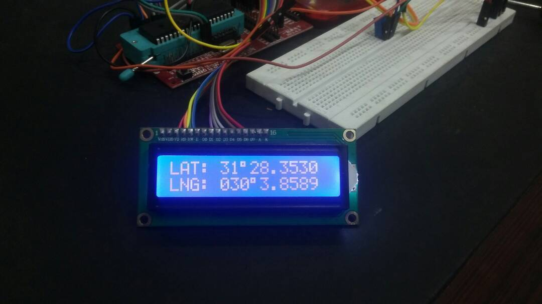 GPS coordinates on LCD using pic16f877a