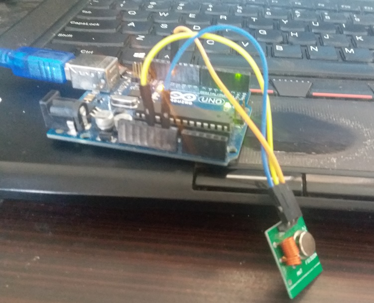 RF transmitter interfacing with Arduino