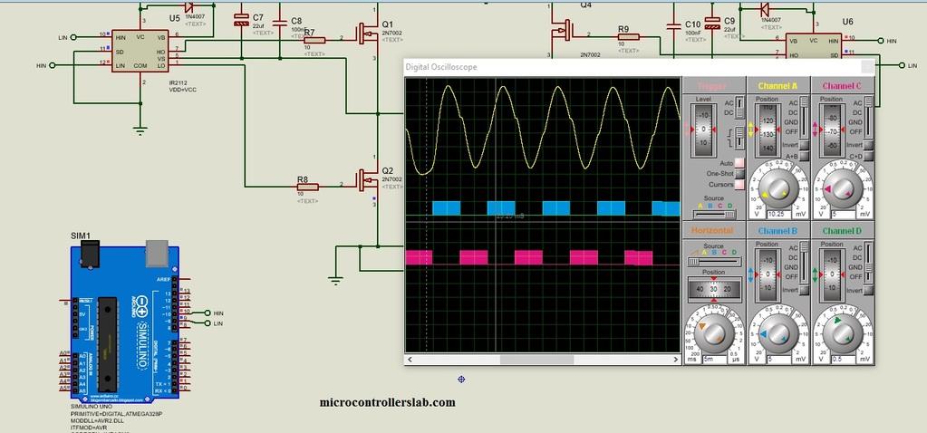 single phase sine wave inverter using arduino