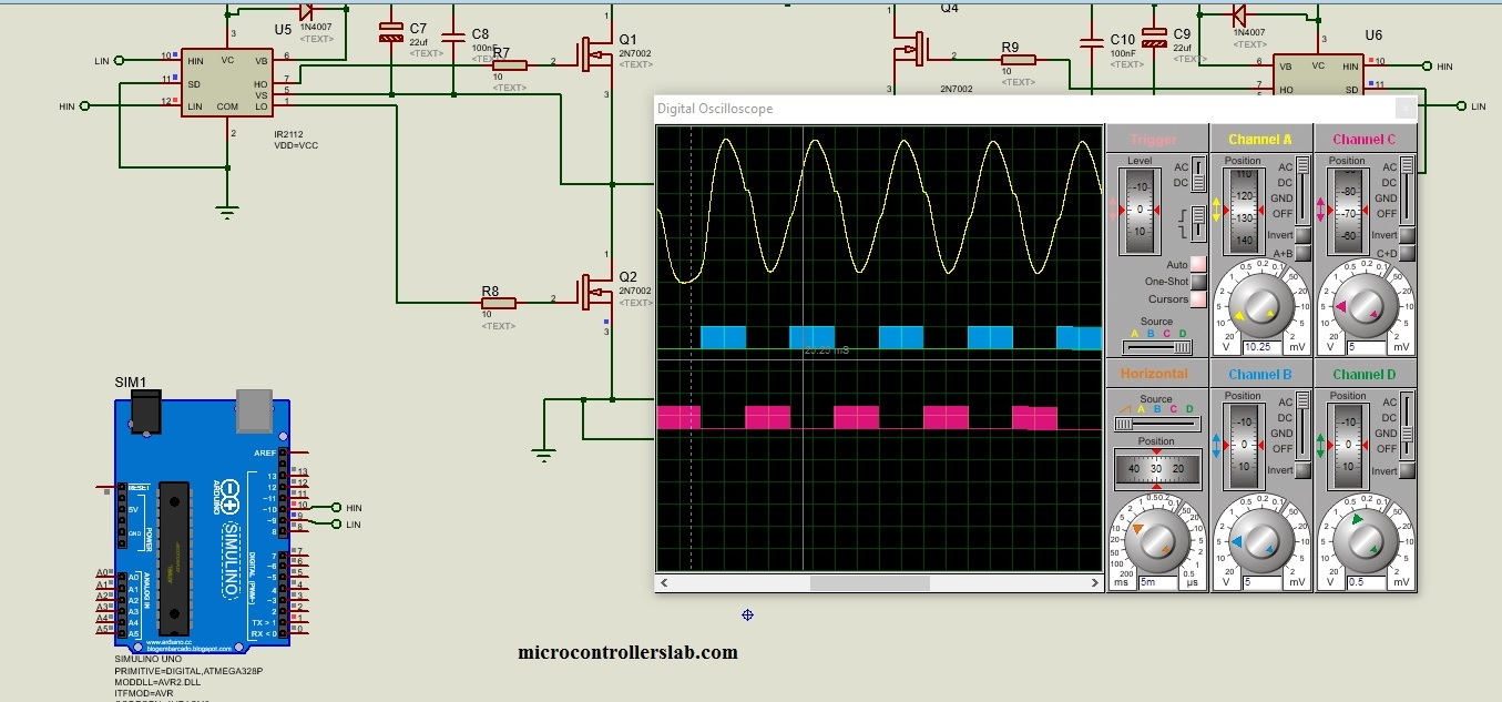 Single Phase Pure Sine Wave Inverter Using Arduino How To Make A Simple Circuit At Home