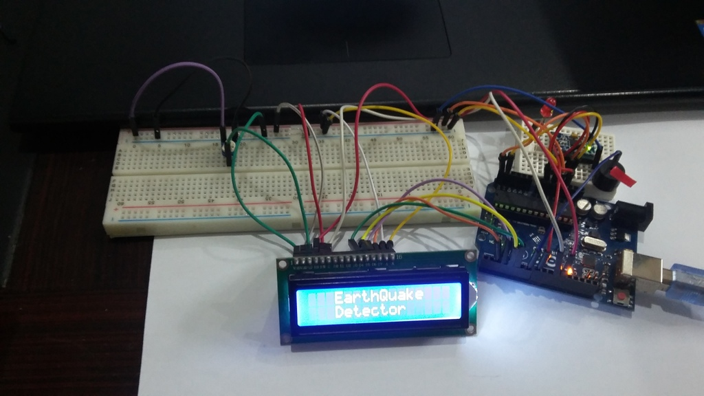 Earthquake detector using Arduino
