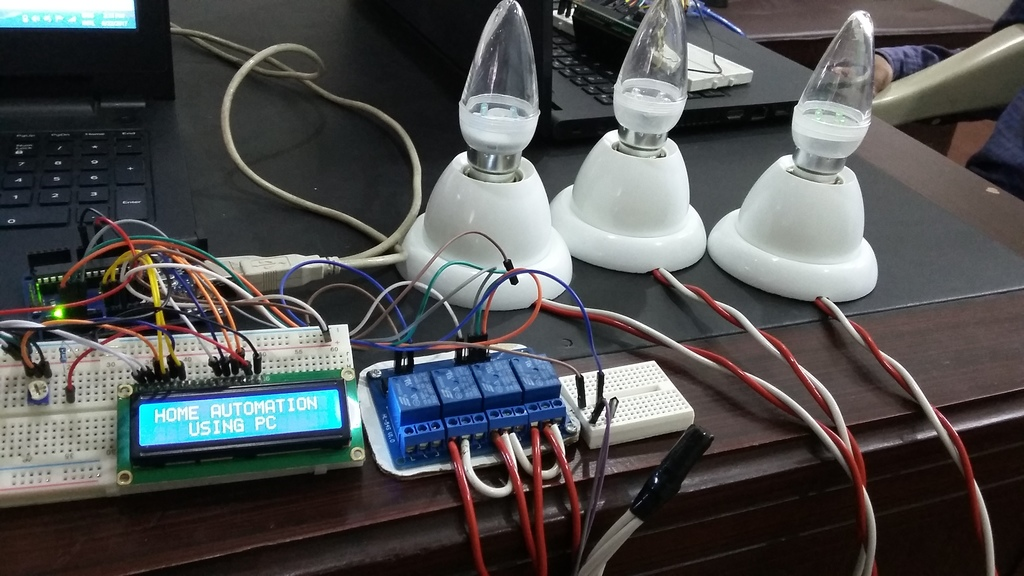 PC based home automation system using arduino