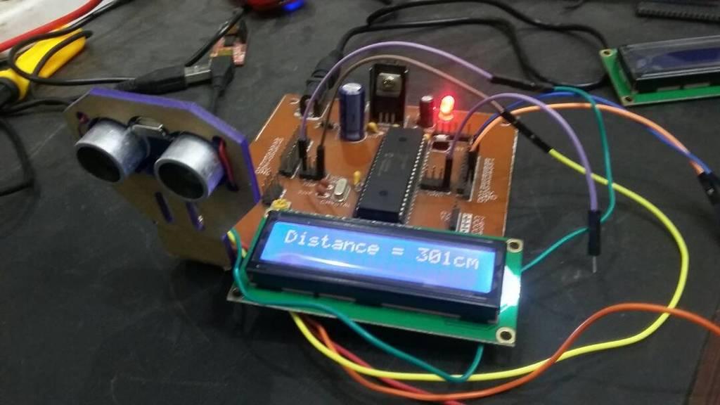 ultrasonic sensor interfacing with pic microcontroller