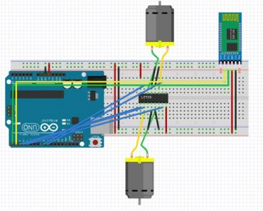 dc motor speed and direction control using bluetooth and Arduino