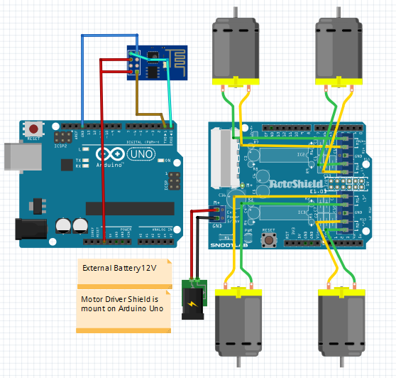 wifi controlled robot using arduino circuit diagram