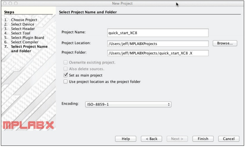 MPLAB XC8 Compiler save projects