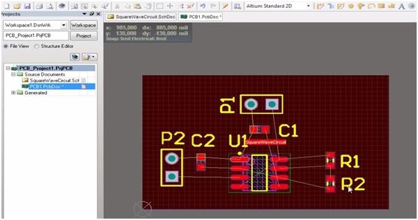 Altium pcb designing step 4a