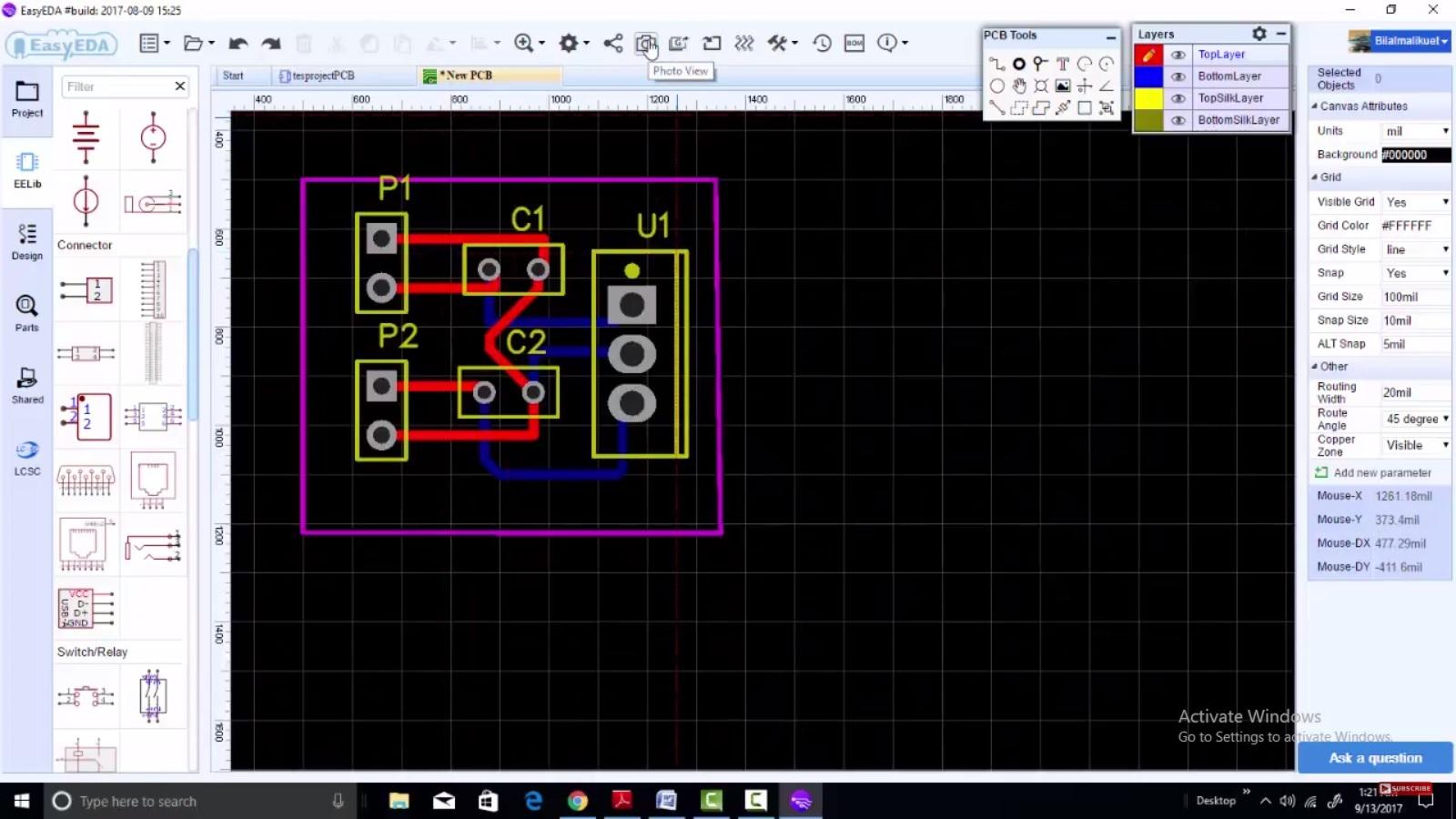 PCB design easyEDA 2