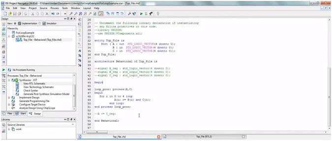 VHDL programming for loop code 3