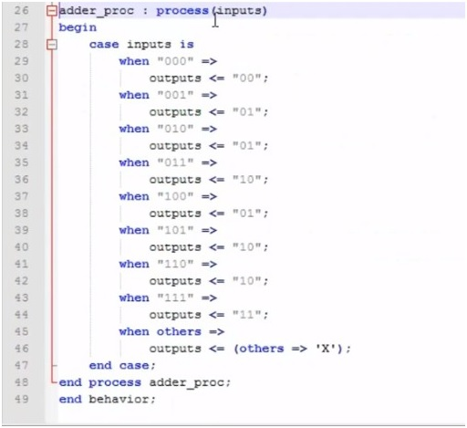 data types example in VHDL 2