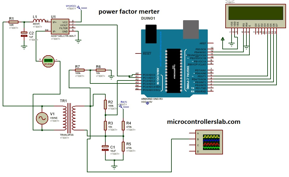 Power Factor Meter Using Arduino How To Measure Power Factor