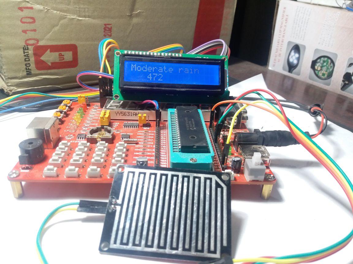 Rain Detector Circuit Using Pic Microcontroller Drop Sensor With