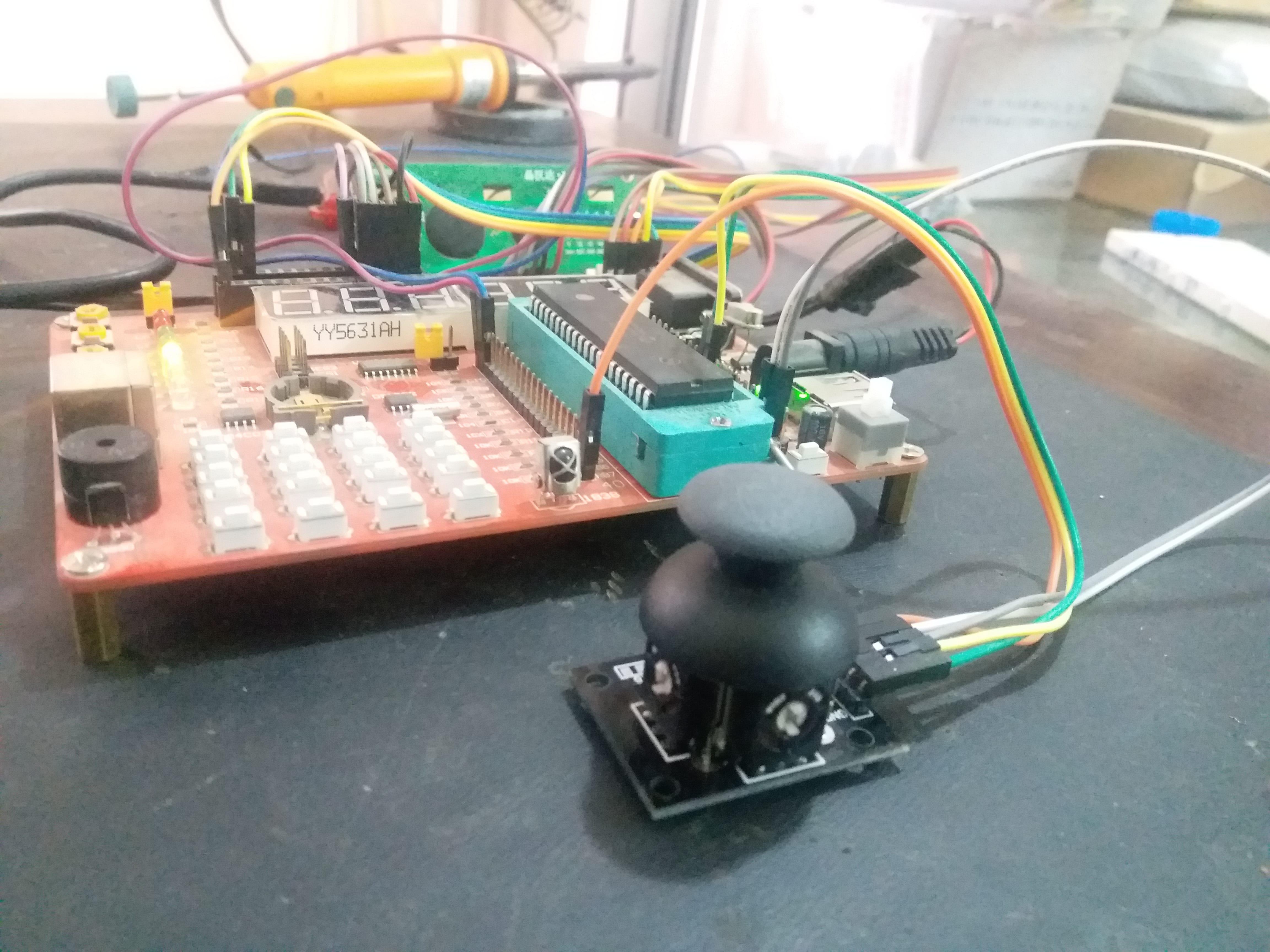 Joystick Module Interfacing With Pic Microcontroller Example Rain Detector Circuit Diagram Using 8051 Pic16f877a