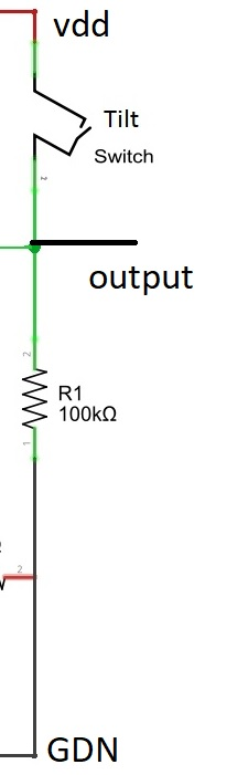 mercury tilt switch circuit