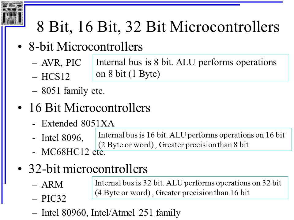 Difference Between 8 bit and 16 bit Microcontrollers