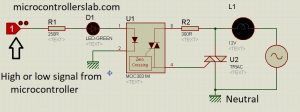 ac load interfacing with microcontroller