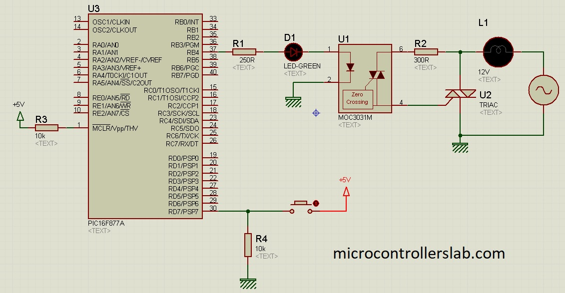 ac load interfacing with pic microcontroller
