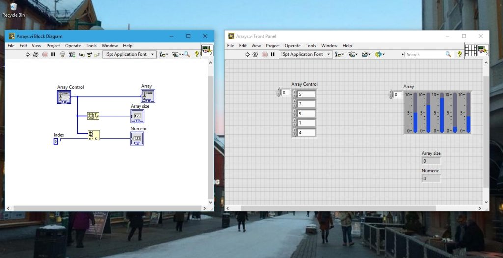 Array indexing in labview