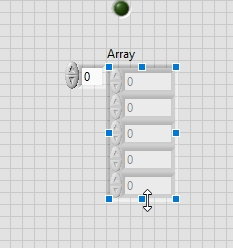 Array size in labview