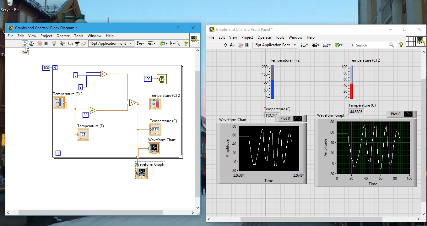 Using Charts And Graphs In Labview With Example Tutorial 6 Description Block Diagramjpg See The Figure Below Final Output