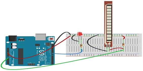 Flex sensor interfacing with Arduino