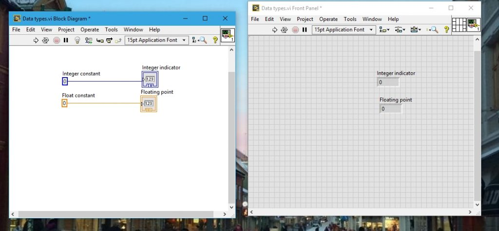 Floating point blocks data types in labview