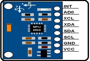MPU6050 sensor pinouts