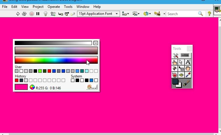 Set color tool