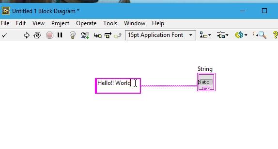 String input