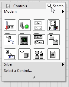 search bar in labview