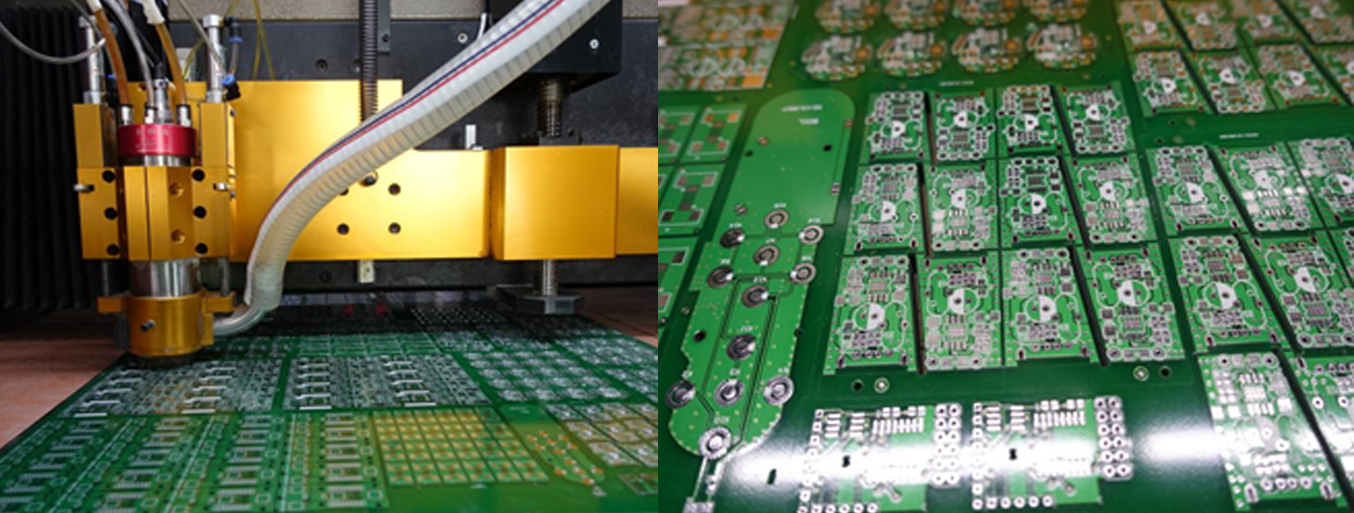 Pcb Manufacture Process In Jlcpcb Factory Microcontrollers Lab Cutting Machine Printed Circuit Board Suppliers A V Shaped Breaking Line Is Formed The With Precision Tool This Lines Permit Boards To Easily Be Snapped Out From