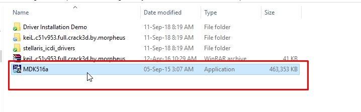 Keil setup file