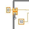 Accessing last 2 values shift register labview